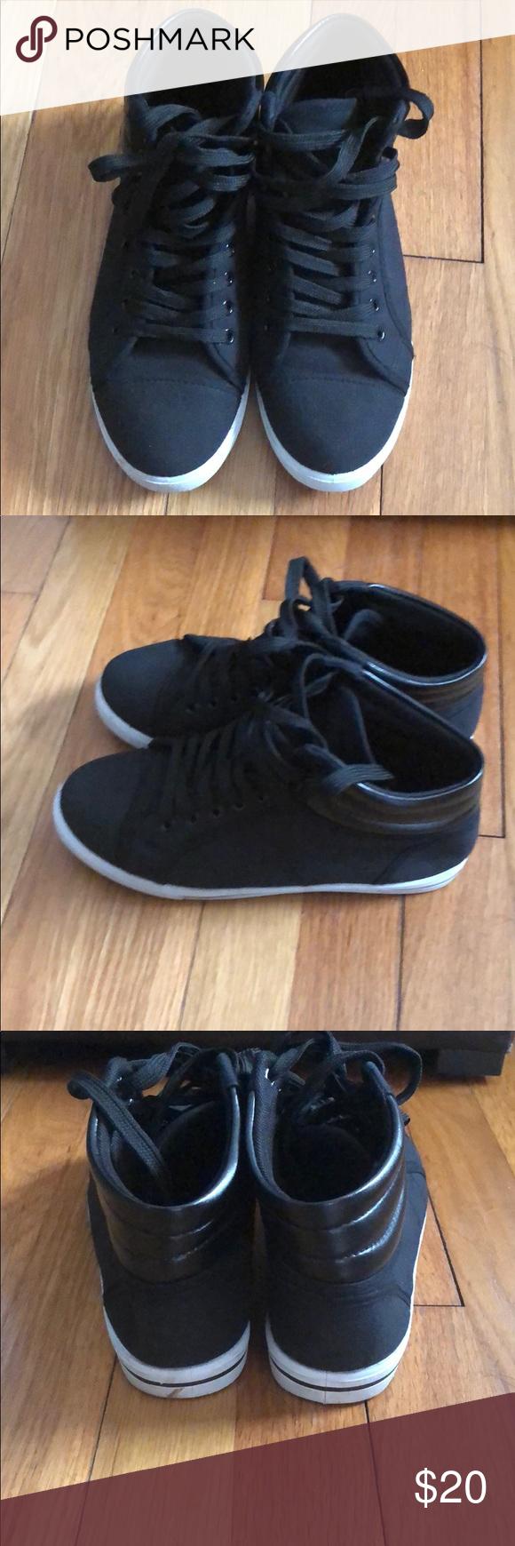 f4ca63af87b1e Rockland black high top sneakers Rockland high top black sneakers. Kind of  look like converse