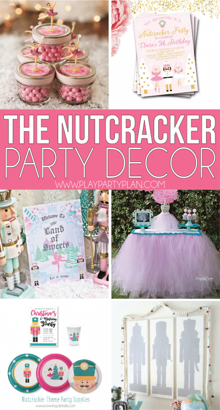 The best party ideas inspired by the Nutcracker Ballet! Everything from gorgeous dessert tables to activities, decorations, Sugar Plum Fairy ideas, and more!