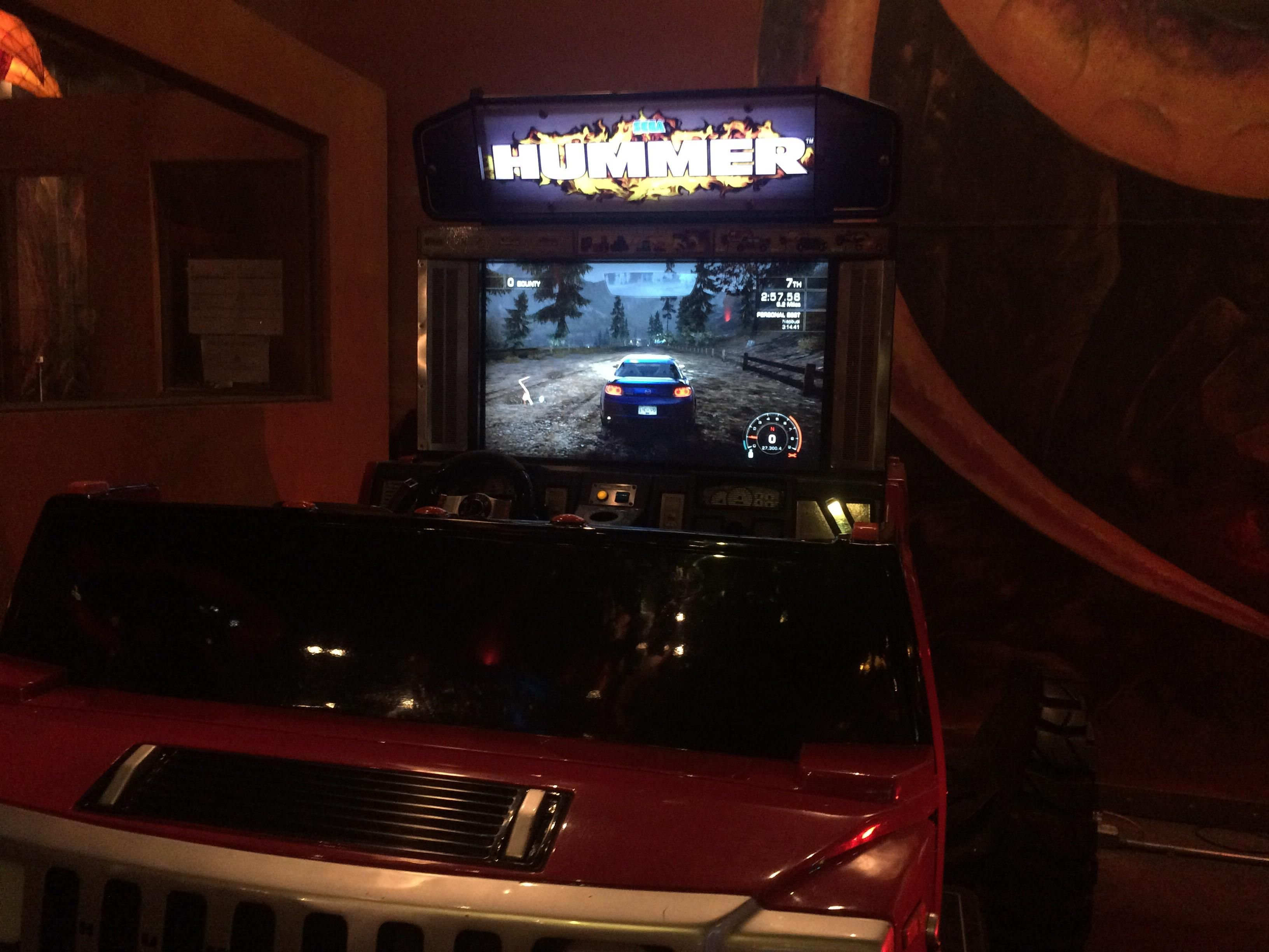 This Arcade Has Need for Speed Hot Pursuit Over a Sega Arcade Machine