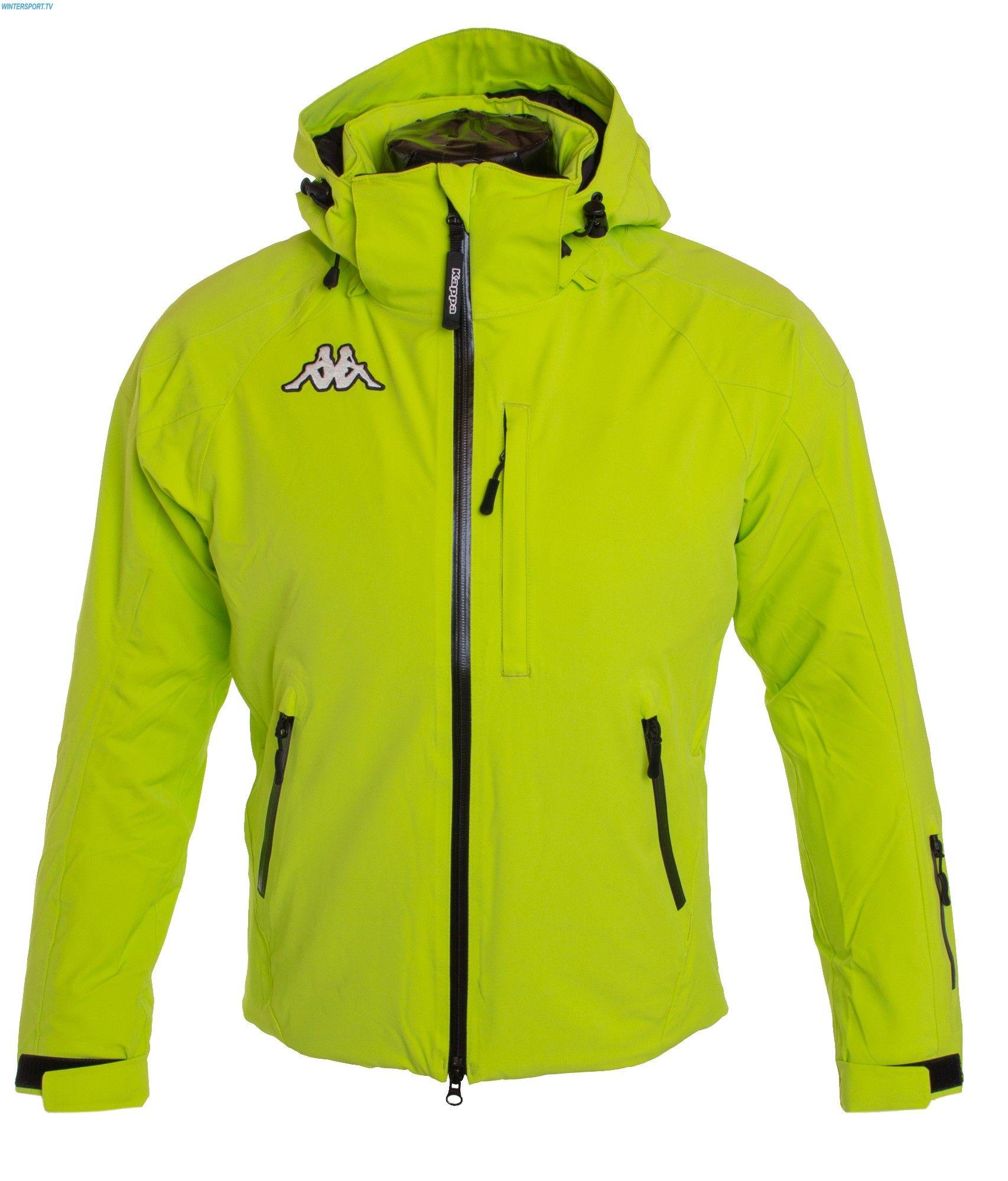 kappa men 6cento 650 jacket \u2013 green lime kappa ski wear kappa  kappa men 6cento 650 jacket \u2013 green lime