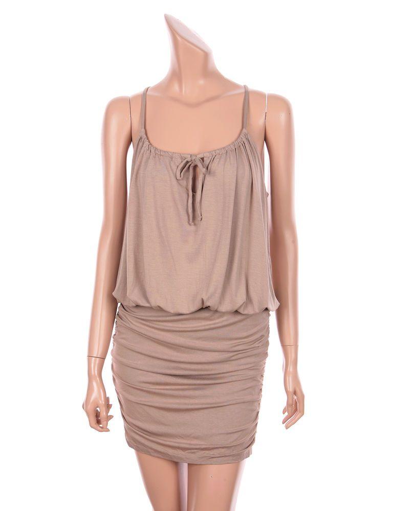 VICTORIA'S SECRET SEXY BLOUSON TEE DRESSES SPAGHETTI STRAP BEACH Beige sz S M #VICTORIASSECRET #Blouson #SummerBeach