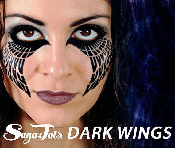 Dunkle Flügel  temporäre Tattoos  Kostüm Halloween von SugarTats