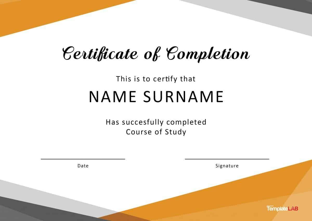Free Printable Certificate To Printing Certificate Of Completion Template Free Certificate Templates Certificate Of Completion