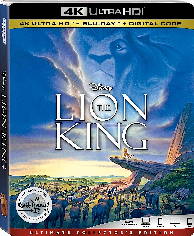 THE LION KING 4K BLURAY (DISNEY) Lion king, The lion
