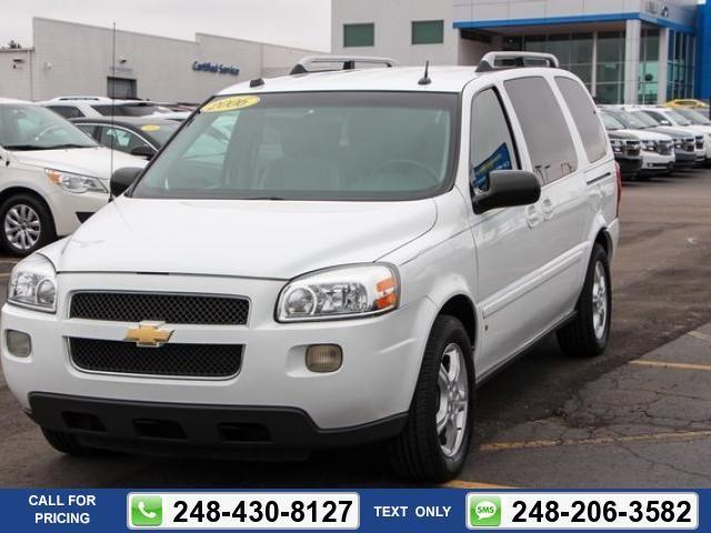 2006 Chevrolet Uplander Lt Bill Fox Chevrolet Used Cars Chevrolet Uplander Used Cars Chevrolet