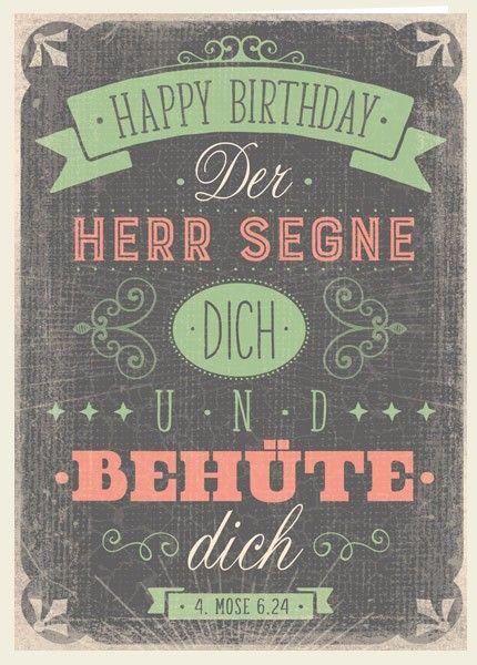 Doppelkarte Happy Birthday Segen Bibelverse Geburtstag