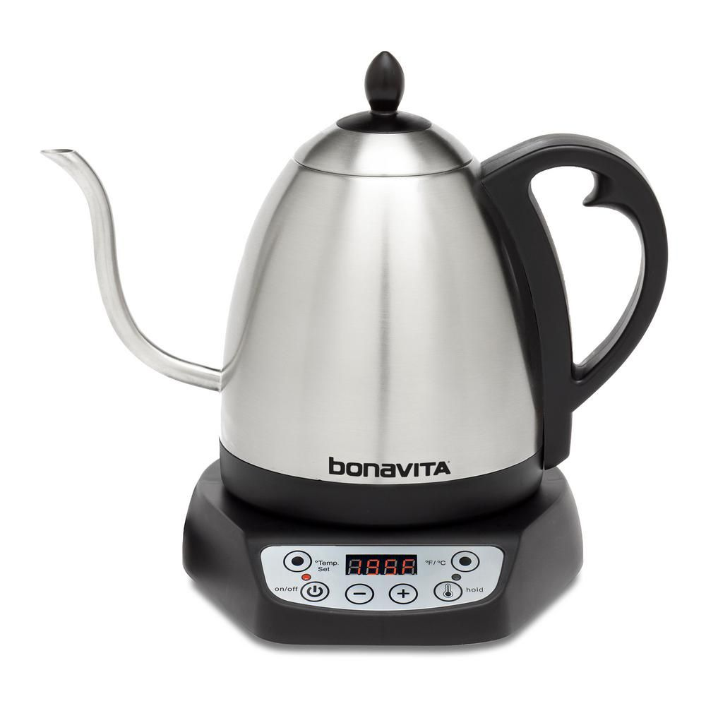 Bonavita 4.2 Cup Variable Temperature Silver Electric Kettle
