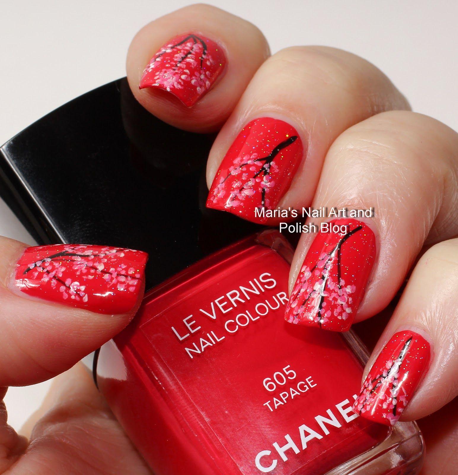 Marias Nail Art and Polish Blog: Tapage cherry blossom nail art ...