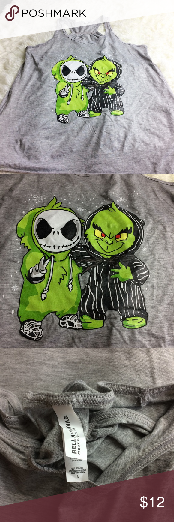 NWOT Jack and Grinch Tank NWOT Jack and Grinch Tank