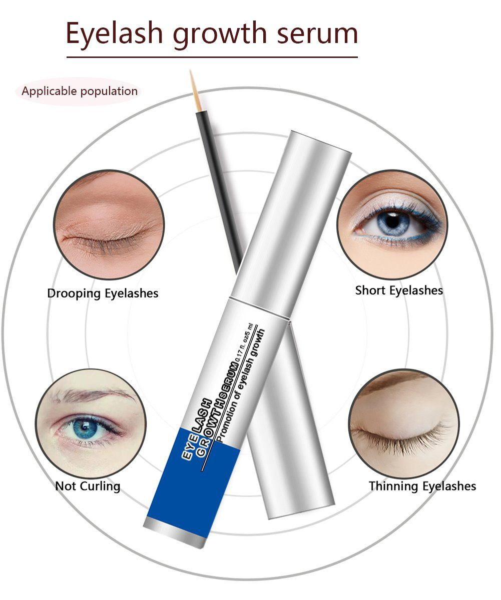 d41bc9883e0 Natural Eyelash Growth Serum Enhancer Rapid Lash Booster Primer Serum for  Thicker Longer Fuller Lashes and Brows Enhancing with Blackhead Remover  Mask * You ...