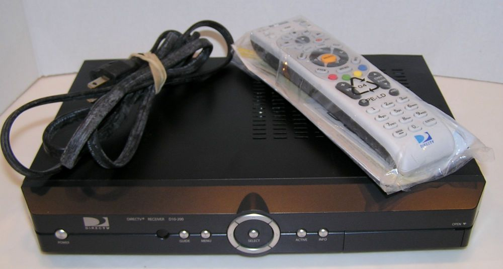 Direct Tv D10 200 Digital Satellite Receiver Box With Ac Power Cord And Remote Digital Cable Tv Satellite Receiver Ac Power