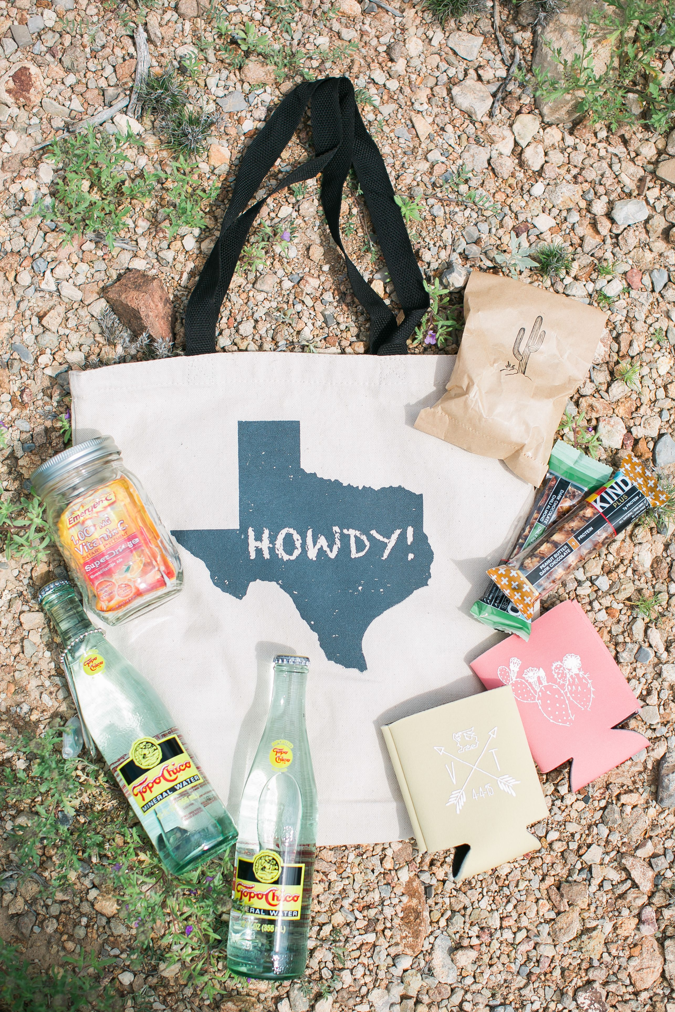 TexasThemed Destination Wedding Bag Wedding