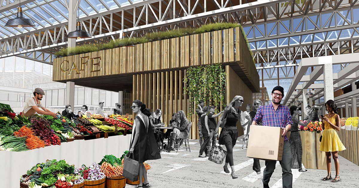 Market New Public Center Of Local Communities Historical