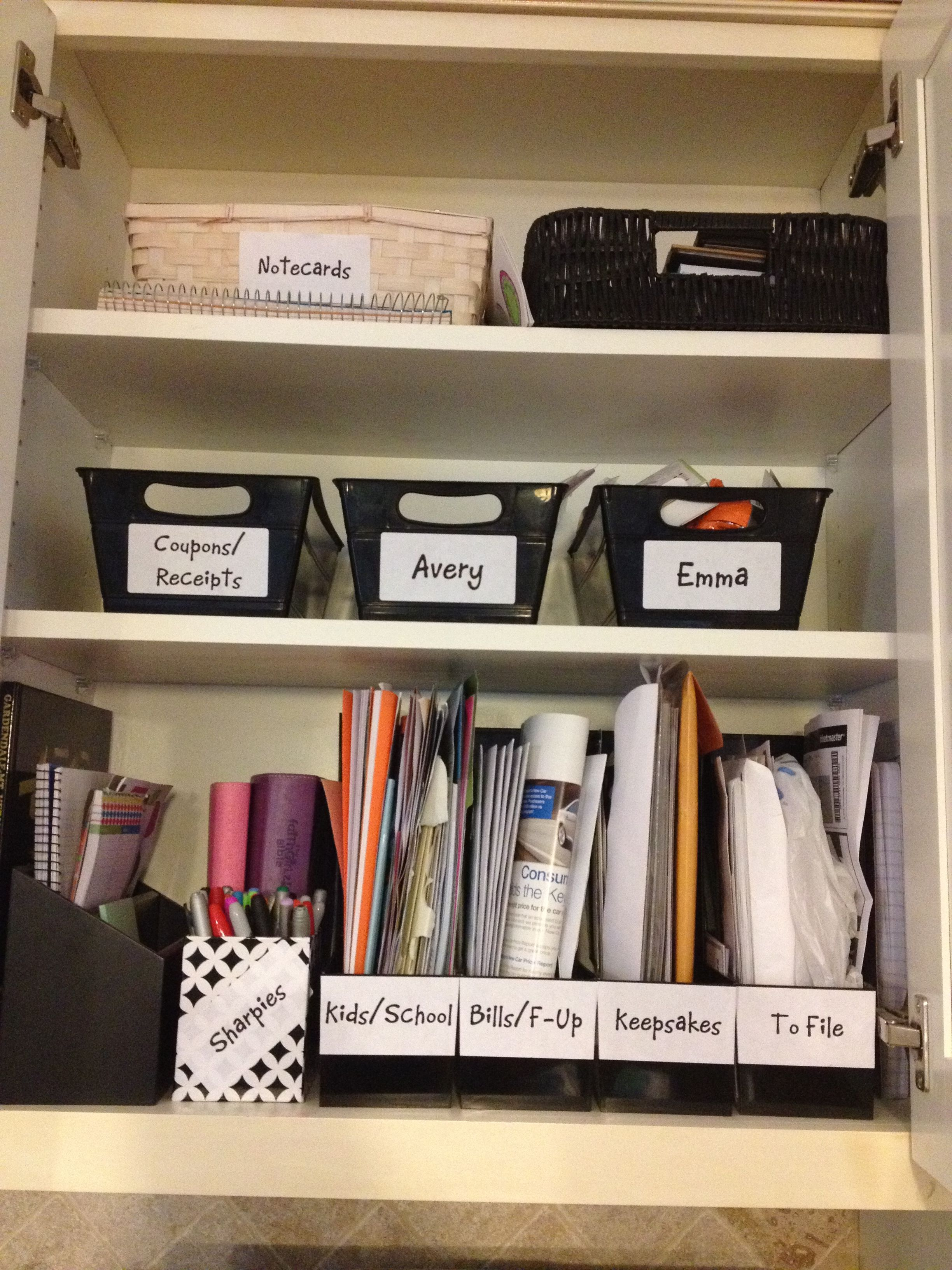 Kitchen Command Center Paper Management Back To School Ready To Tackle  Papers