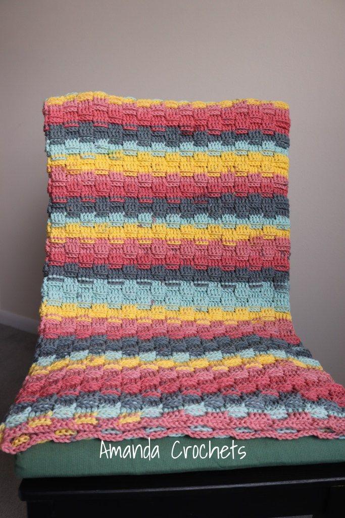 Basket Weave Baby Blanket Pattern | Basket weave crochet ...