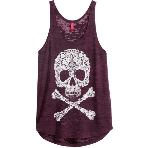 H&M Top with a burnout pattern (19 BRL) ❤ liked on Polyvore featuring tops, burgundy, jersey top, print top, purple top, burnout top and h&m tops