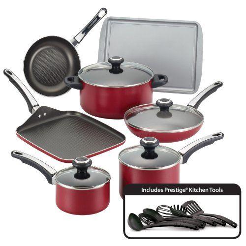 Farberware High Performance Nonstick Aluminum 17piece Cookware Set
