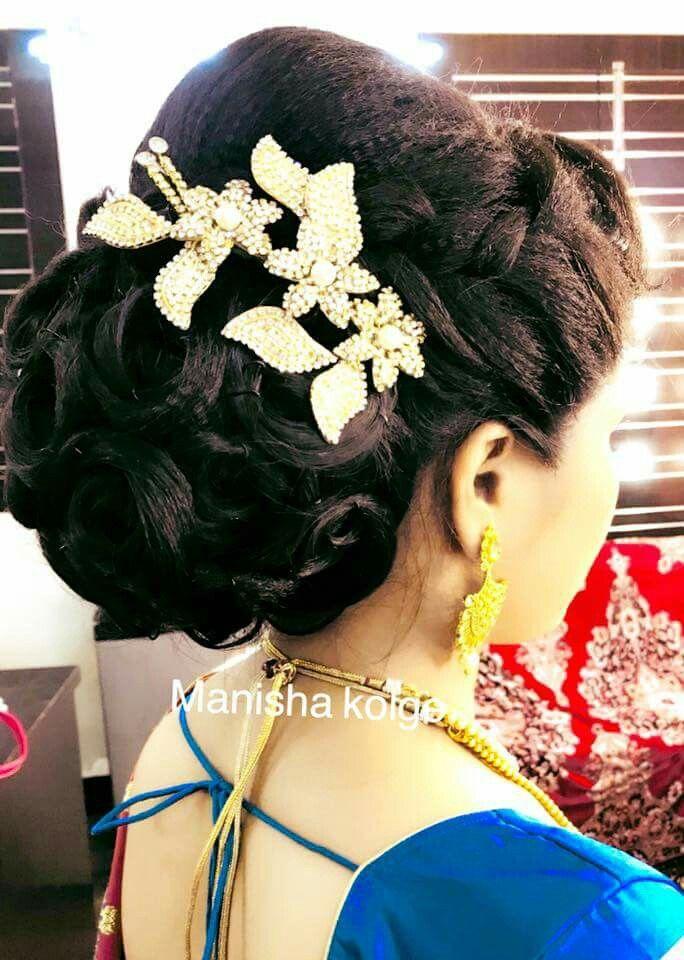 Pin By Ashwini Reddy On Hairs Updo Long Hair Styles Bridal Hair Buns Hair Styles