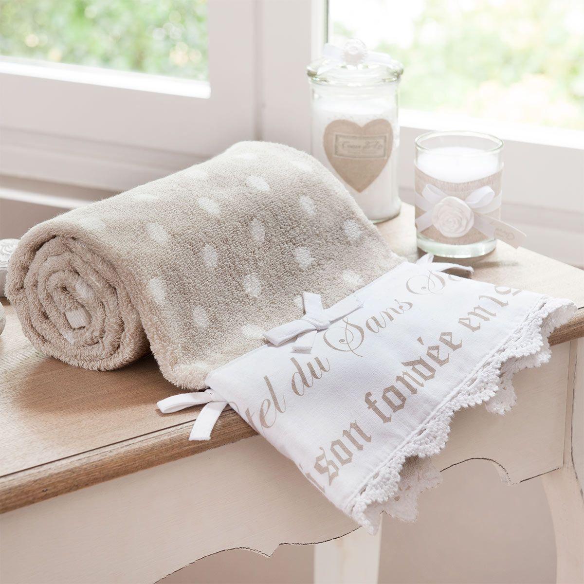 serviette de bain sans souci 50x100 decoration appart pinterest serviettes de bain. Black Bedroom Furniture Sets. Home Design Ideas