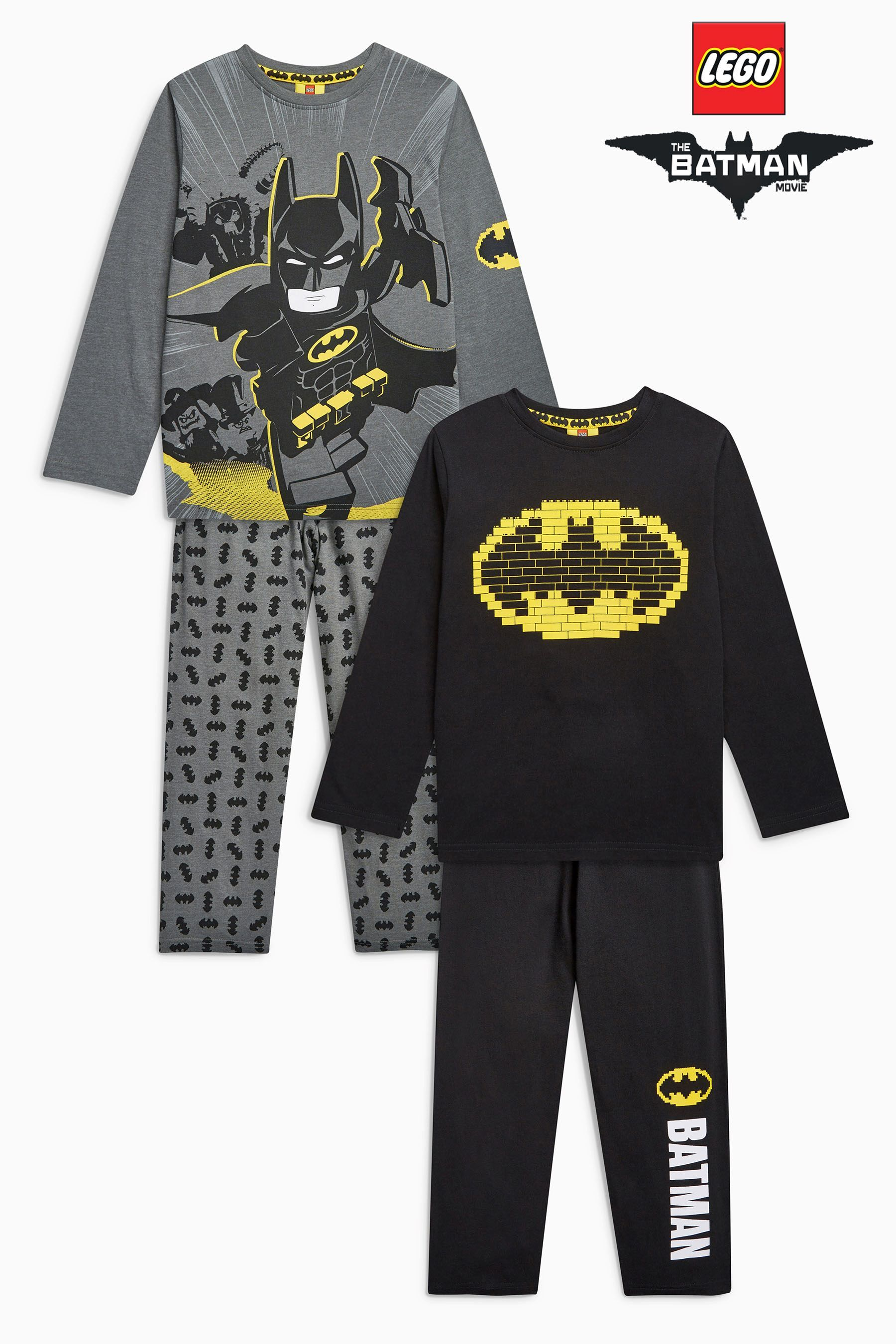 789201b29a5f3 Buy Black Lego Batman® Pyjamas Two Pack (4-10yrs) from the Next UK online  shop