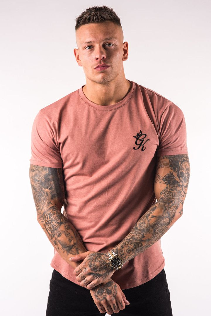 e7472e976a Gym King Longline Fitted T-Shirt - Dusted Peach | Out fits | Shirts ...
