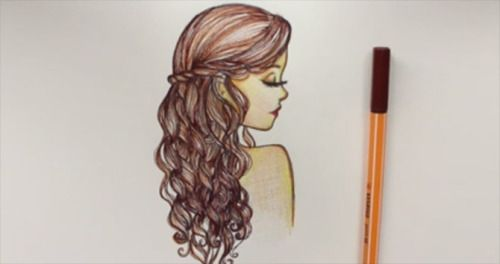 how to draw curly hair | Tumblr
