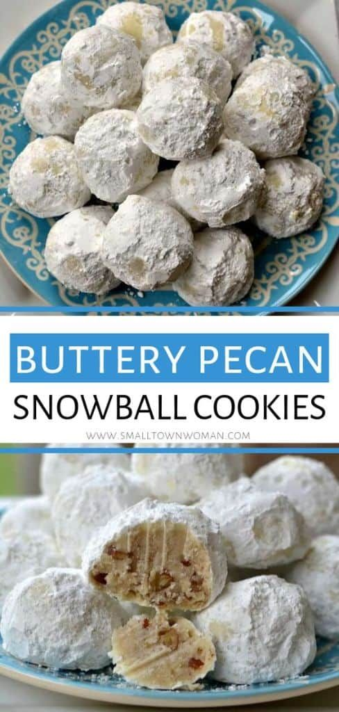 Buttery Pecan Snowball Cookies #holidaydesserts