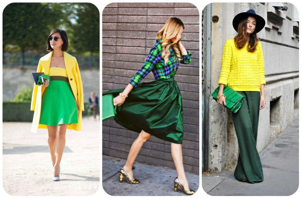 Зеленый цвет в одежде, сочетание зеленого с другими ...
