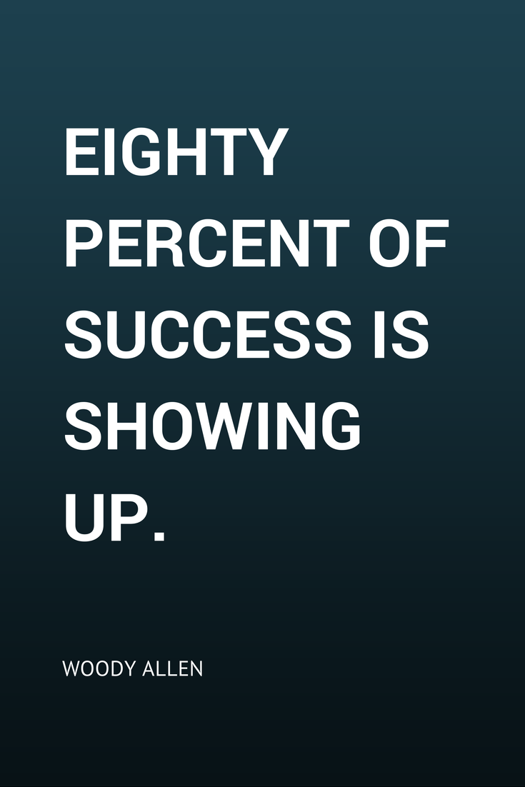 "Resilience Quotes Eighty Percent Of Success Is Showing Up."" Woody Allen  Acting ."