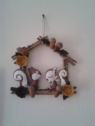 Scoiattoli ghirlande natale e decorazioni casa for Ornamenti casa