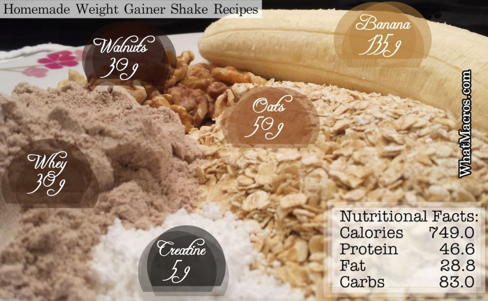Homemade Weight Gainer Shake Recipes Whey Protein Shakes, Protein Shake At Home, Protein Supplements