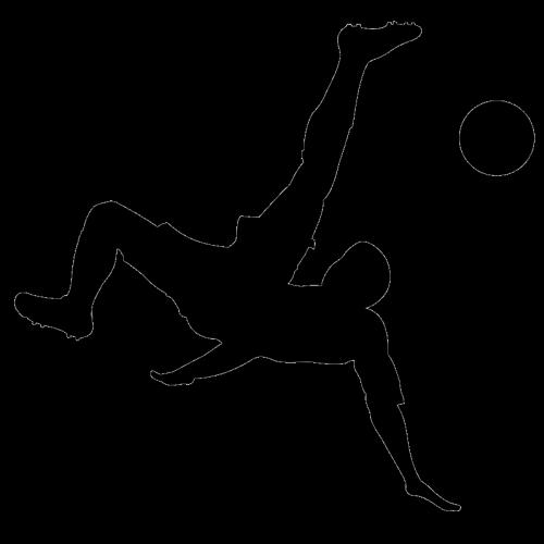 Resultado de imagem para homens jogando futebol - desenhos