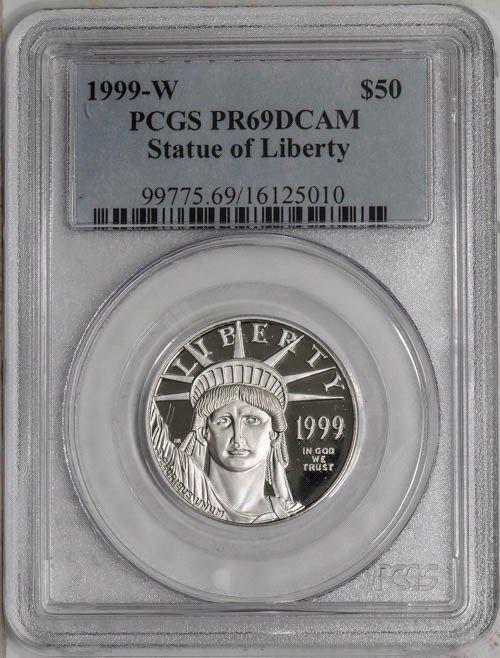 1998 W 1 oz $100 Platinum American Eagle Proof Coin PCGS PF 69 DCAM