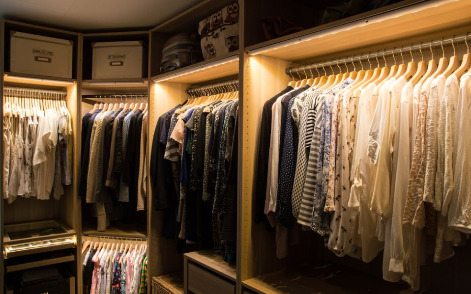 Add motionactivated LED lights to three closets for 14