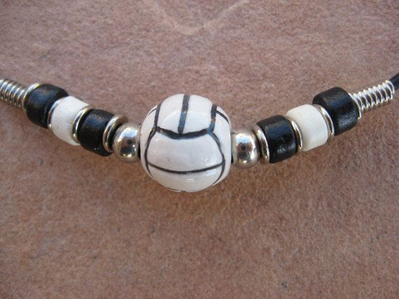Black Leather Necklace with a Ceramic by buffalorunjewelry on Etsy, $9.95