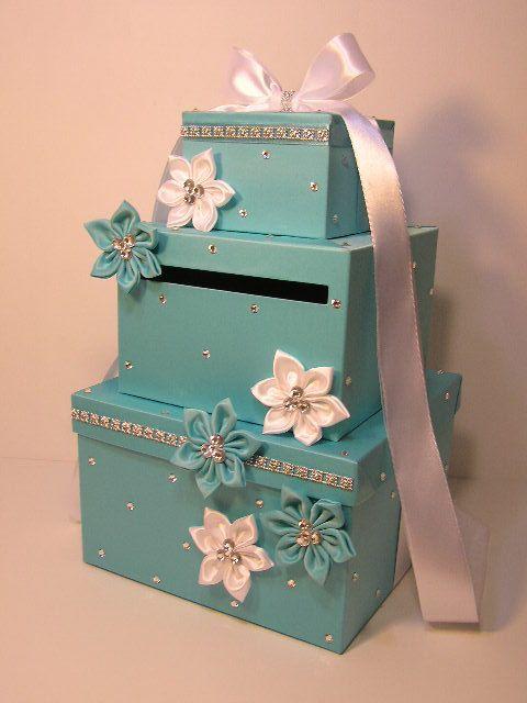 Tiffany Wedding Card Box Gift Card Spardose Holder