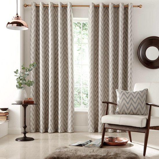 Grey Zanzibar Eyelet Curtain Collection | Dunelm | Living ...