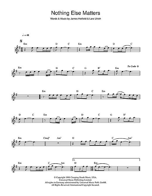 Metallica Nothing Else Matters Sheet Music Notes Chords Score Download Printable Pdf Sheet Music Notes Sheet Music Flute Sheet Music