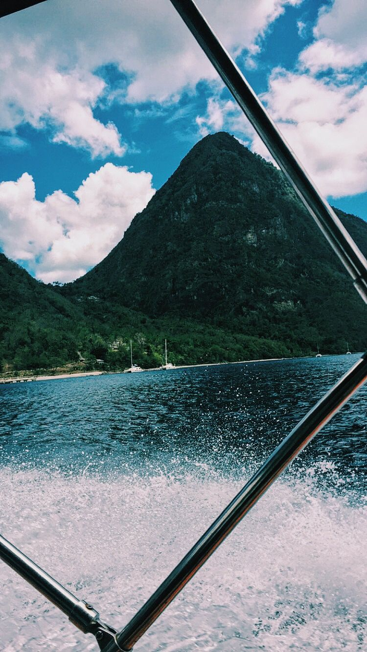 saint lucia mountain boat cool point of view water artsy picture artsy photography