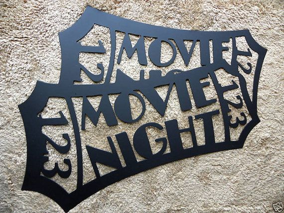 Genial Large Movie Ticket Black 2 Ft Home Theater Decor Metal Wall Art