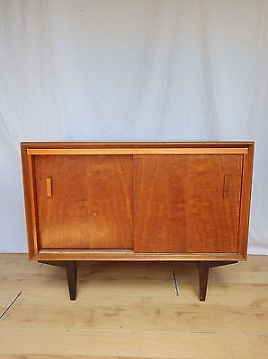 Vintage Teak Retro Cupboard Record Cabinet Sideboard Vinyl Small TV Stand