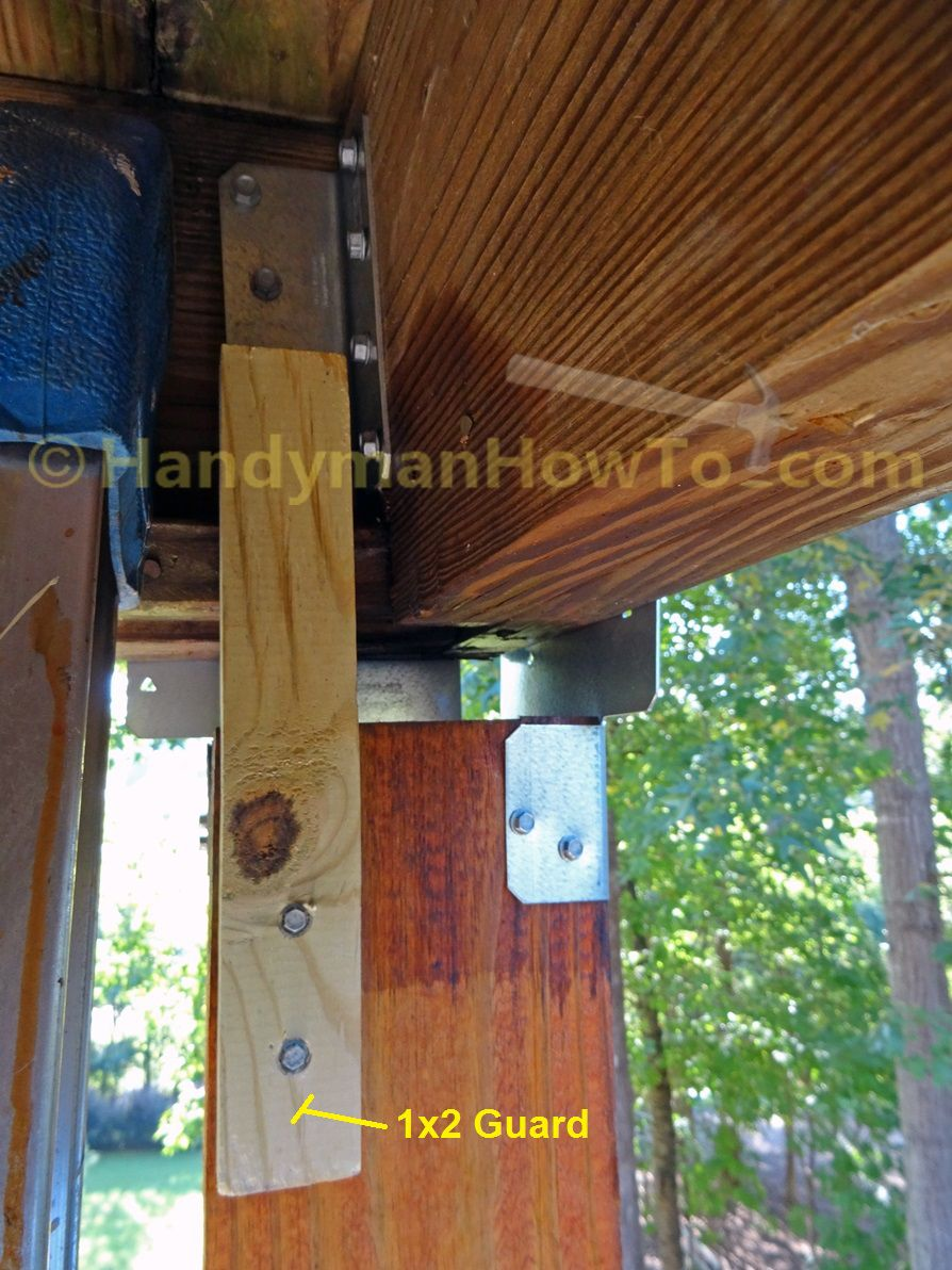 6x6 Deck Post and Guard with Simpson ACE6Z End Post Caps  DIY  Deck posts Deck railings Deck
