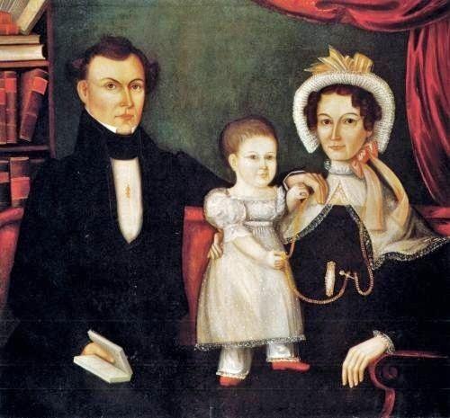 Noah North (American painter, 1809-1880) Family Portrait 1830s