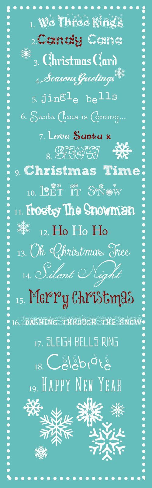 A Typical English Home: Best Free Christmas Fonts
