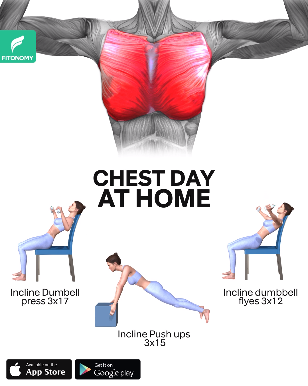 CHEST DAY AT HOME