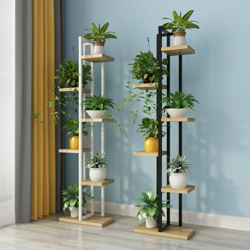 Beautiful Nice Strong Standing Flower Shelf Living Room Balcony Plant Shelf Flower Pot Stands With Wood In 2020 Plant Decor Indoor Plant Decor Plant Stand Indoor