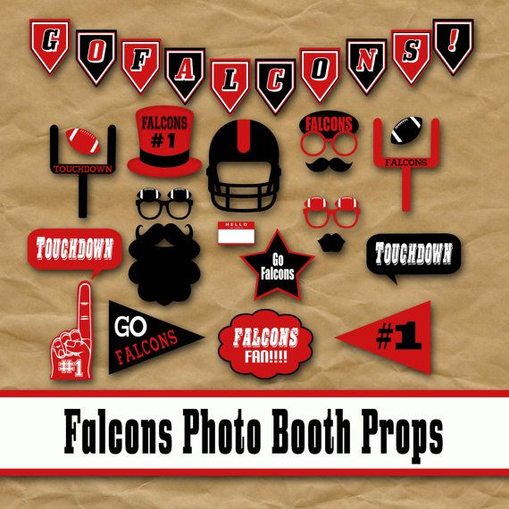 2016 Super Bowl 50 Printable Football Photo Booth Props   Glitter 'N' Spice