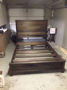 Headboard And Frame, Step By Step Guide Diy Wood Bed Frame, Diy Bed Frame