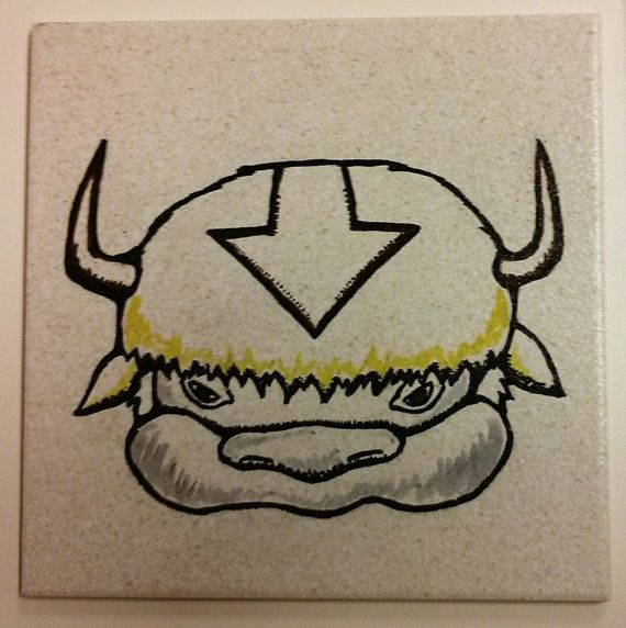 Appa the Last Airbender inspired wall art  on by ScribbleSketches, $15.00