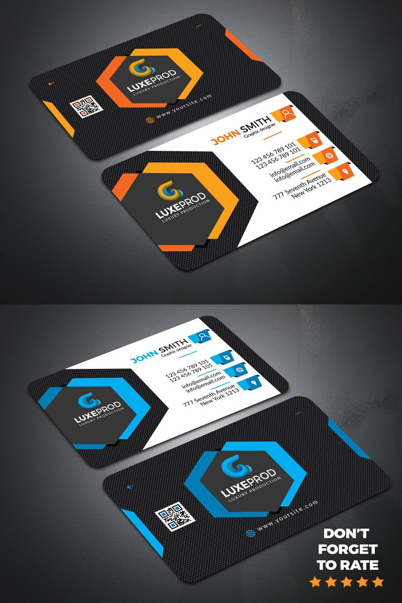 Modern High Quality Business Card Corporate Identity Template High Quality Business Cards Business Cards Creative Templates Business Cards Creative